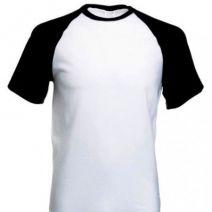 Camiseta Raglan Branca Personalizada