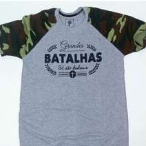 Camiseta Raglan Cinza Personalizada