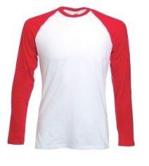 Camiseta Raglan Vermelha Manga Comprida