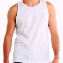 Camiseta Regata Masculina Branca sem pelicula