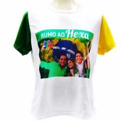 Camiseta Personalizada Babylook Brasil