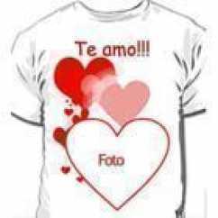 Camiseta Personalizada  Te Amo A4