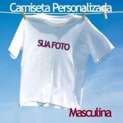 f4cfe8ece Crie a sua · Disponível em Estoque Camiseta Personalizada Branca com foto