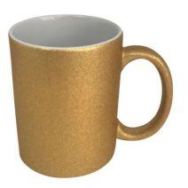 Caneca Dourada com Glitter