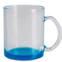 Caneca Vidro fundo Azul