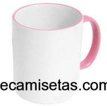 Caneca Personalizada Branca com Alça Rosa 300ml