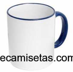 Caneca Personalizada Branca com Alça Azul 300ml
