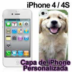 Capa de Iphone 4 Personalizada Branco