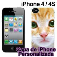 Capa de Iphone 4 Personalizada Preto