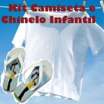 Kit Camiseta Infantil e Chinelo Infantil Personalizado