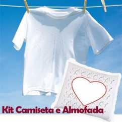Kit Almofada e Camiseta Personalizada