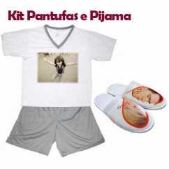 Kit Pijama e Pantufa Personalizados