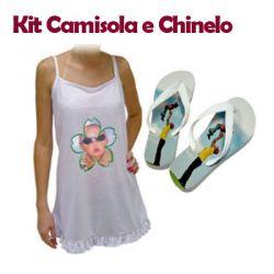 Kit Camisola e Chinelo Personalizado