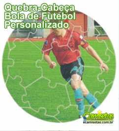 Quebra Cabeça Bola de Futebol Personalizado